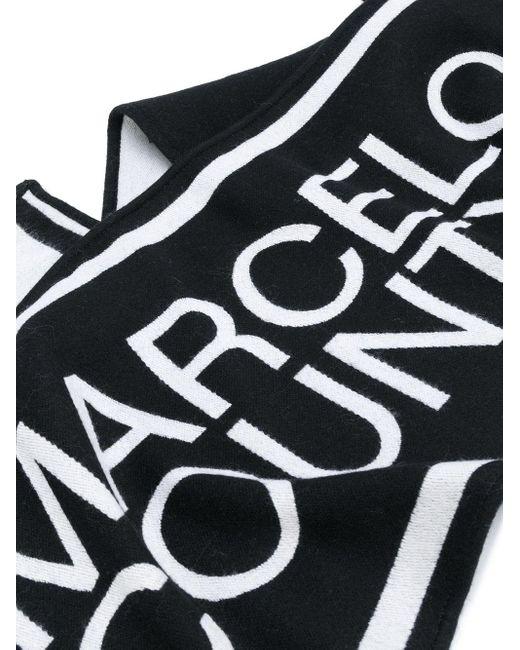 メンズ Marcelo Burlon ロゴ スカーフ Black