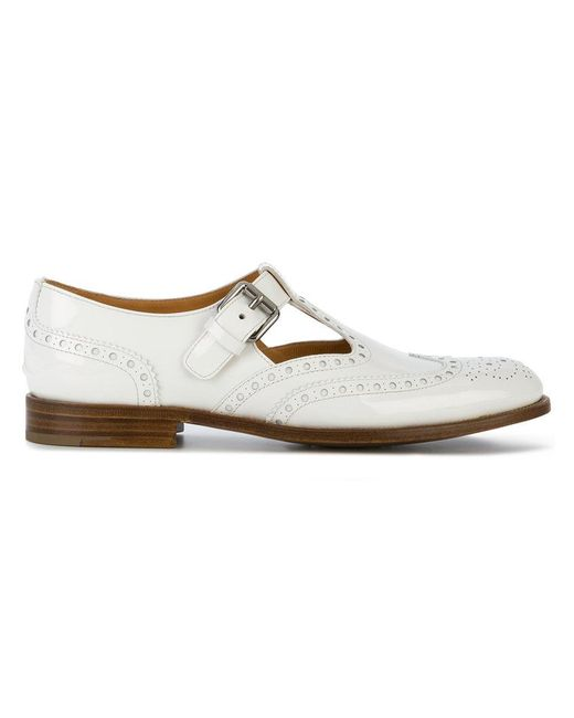 Church's - White Classic Style Brogues - Lyst