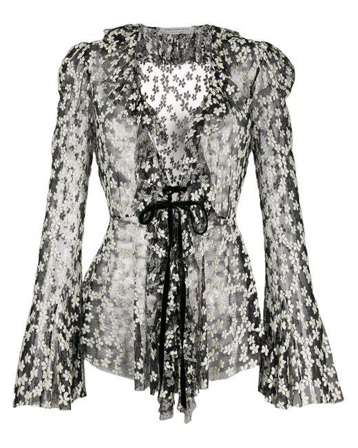 Сетчатая Блузка С Цветочной Вышивкой Philosophy Di Lorenzo Serafini, цвет: Black