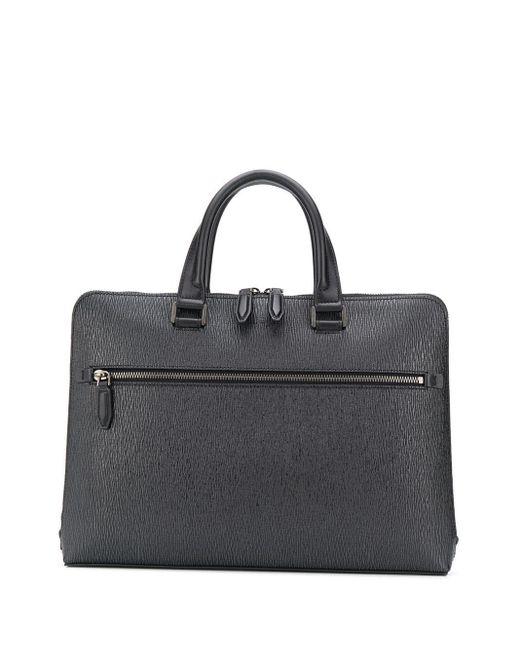 Porte-documents zippé en cuir texturé Ferragamo pour homme en coloris Black