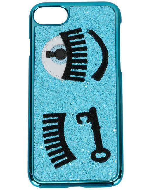 Chiara Ferragni Iphone 7 ケース Blue
