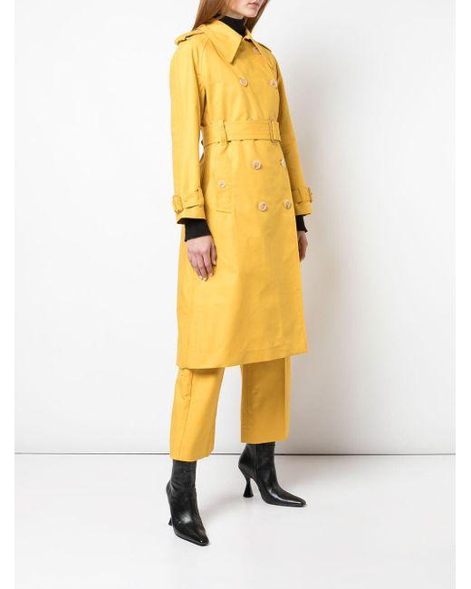 AlexaChung ミディ トレンチコート Yellow