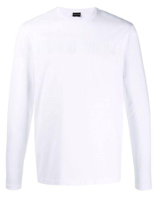 メンズ Emporio Armani ロゴ スウェットシャツ White