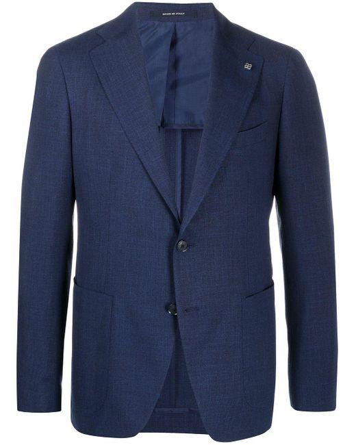 メンズ Tagliatore テーラードジャケット Blue