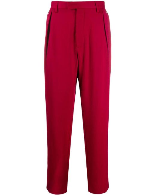 メンズ Just Cavalli ストレートパンツ Red