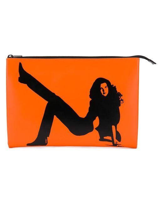 CALVIN KLEIN JEANS EST. 1978 Icon クラッチバッグ Orange