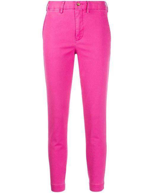 Polo Ralph Lauren クロップド テーパードパンツ Pink