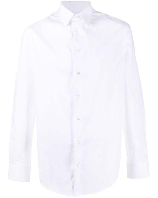 メンズ Emporio Armani クラシック シャツ White