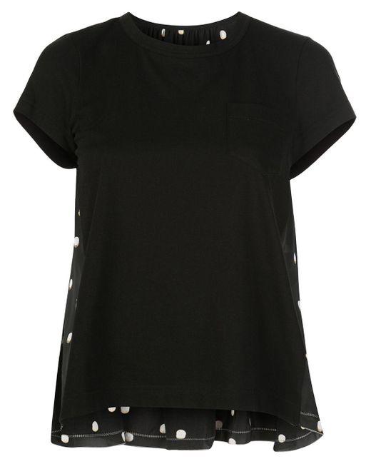 Sacai ポルカドット Tシャツ Black