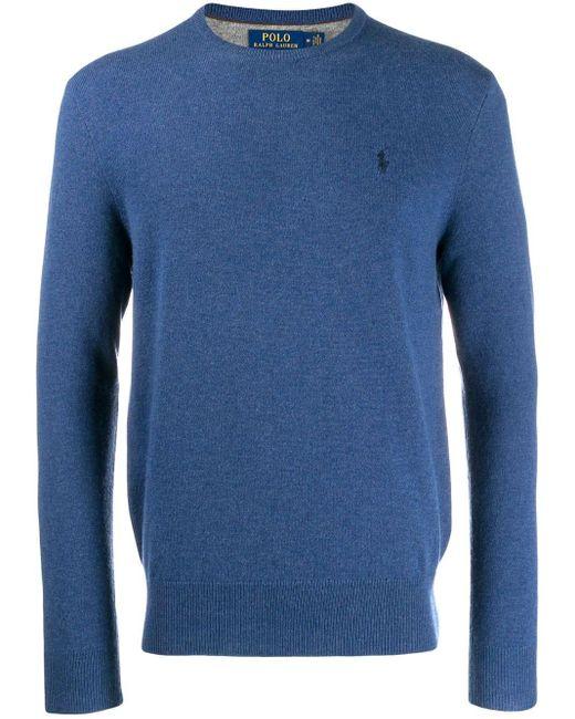 メンズ Polo Ralph Lauren スリムフィット セーター Blue