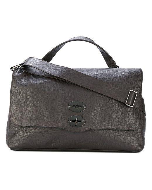 textured L tote bag - Black Zanellato f88Wn