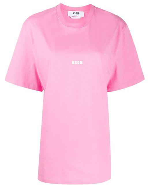 MSGM プリント Tシャツ Pink