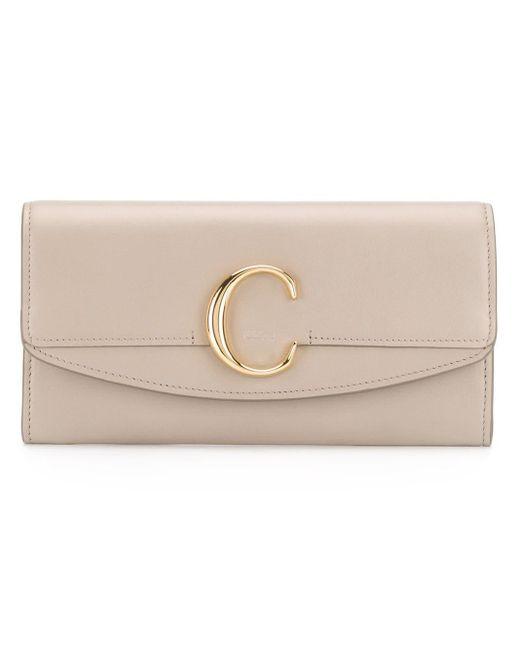 C Wallet Chloé, цвет: Natural