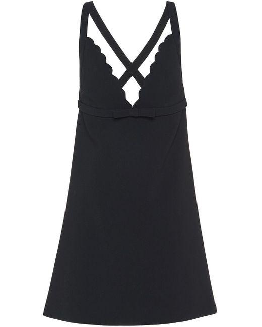 Miu Miu Cady スカラップ ドレス Black