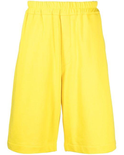 メンズ Jil Sander ロゴ トラックショーツ Yellow