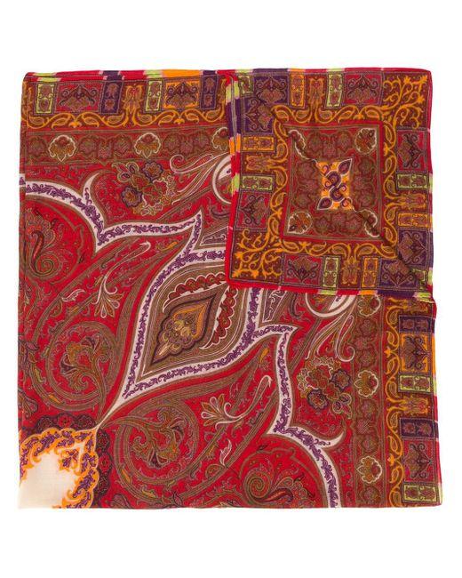 Etro ペイズリー スカーフ Red