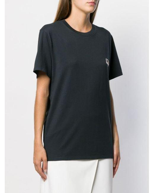 Maison Kitsuné フォックスパッチ Tシャツ Black