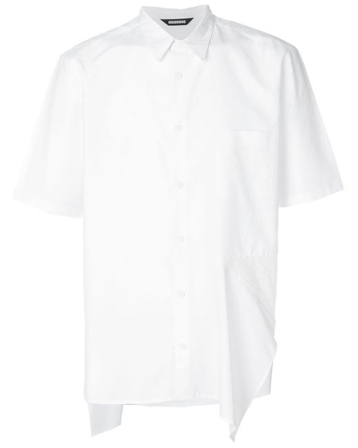 メンズ Moohong アシンメトリー シャツ White