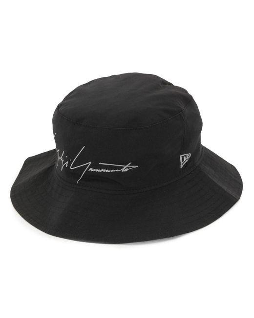 メンズ Yohji Yamamoto ロゴ バケットハット Black