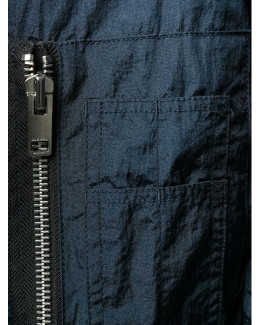 メンズ DIESEL メタリック ボンバージャケット Blue