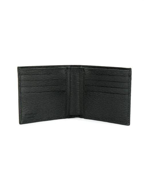 メンズ Ferragamo ガンチーニ 二つ折り財布 Black