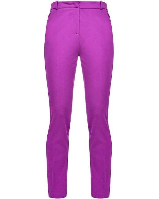 Брюки Кроя Слим Pinko, цвет: Purple