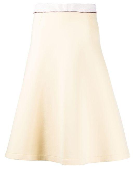 Расклешенная Юбка Marni, цвет: Natural