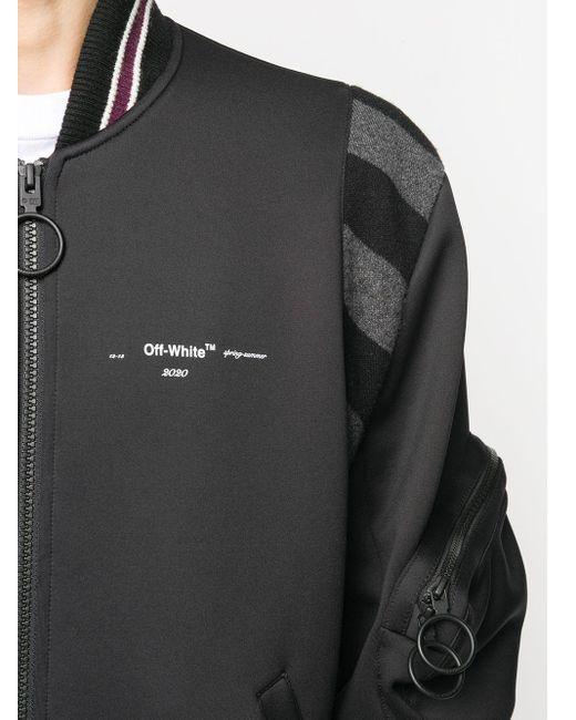Chaqueta bomber con logo Off-White c/o Virgil Abloh de hombre de color Black