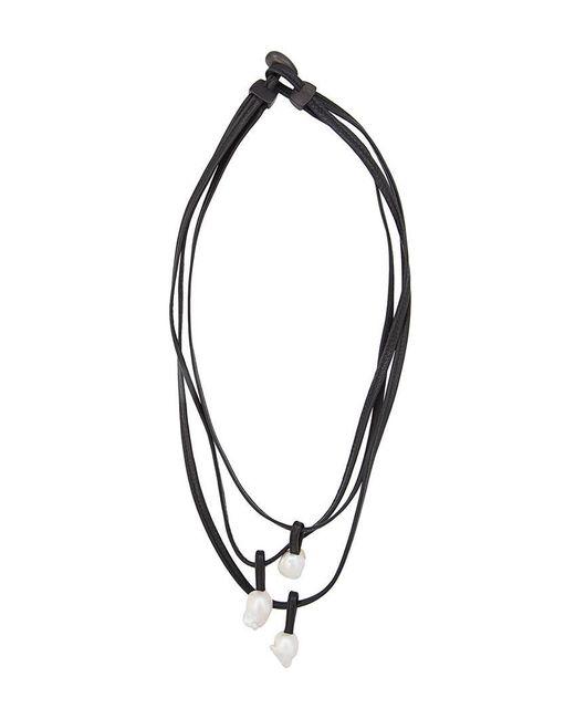 Monies   Black Tri Pendant Necklace   Lyst