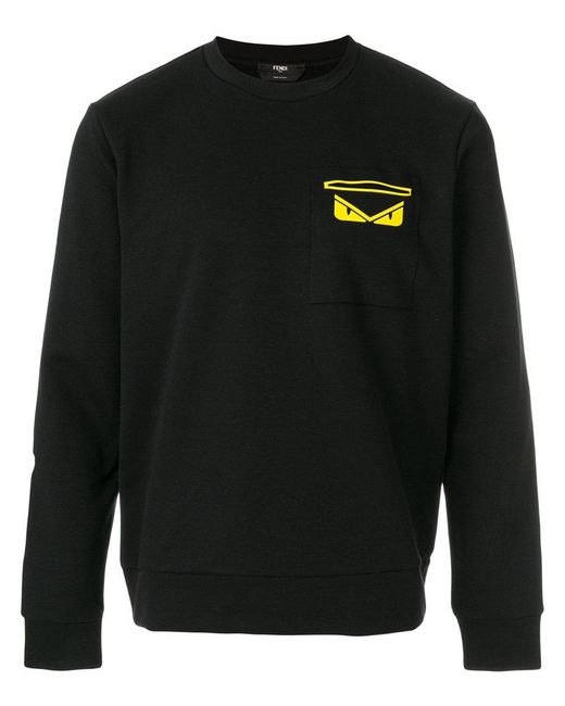 Fendi - Black Monster Embellished Sweatshirt for Men - Lyst