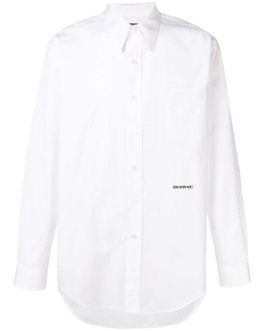 メンズ Calvin Klein チェストポケット シャツ White
