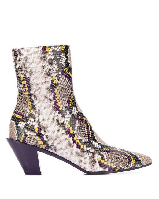 A.F.Vandevorst Purple Ankle Boots