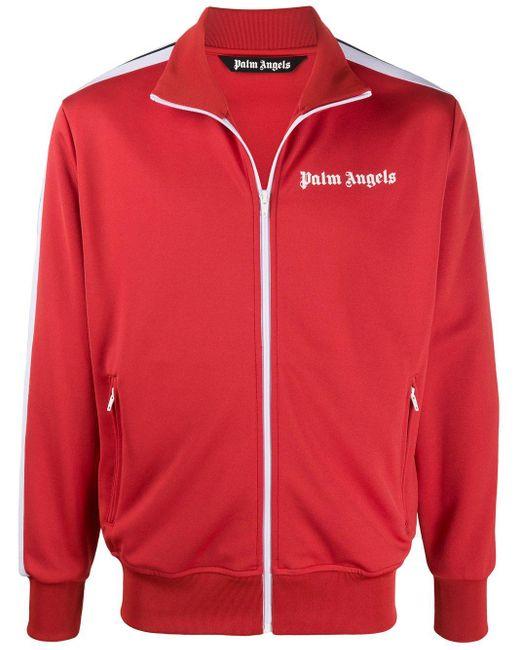 メンズ Palm Angels ロゴ トラックジャケット Red