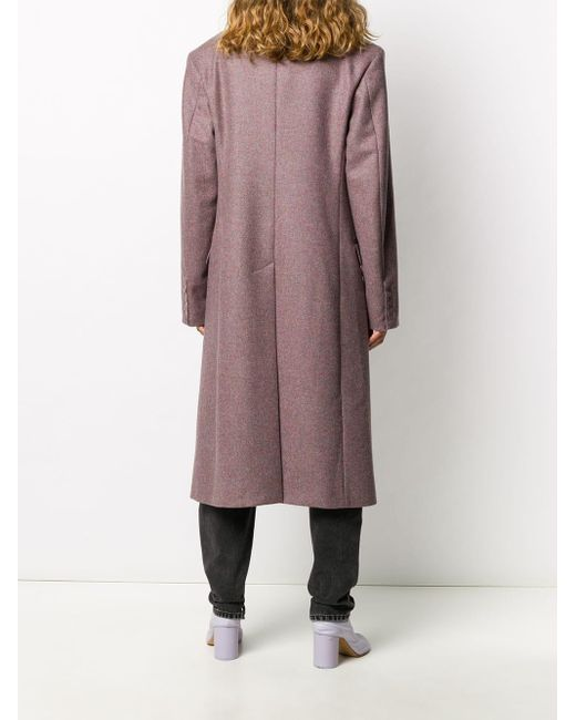 Двубортное Пальто Строгого Кроя Maison Margiela, цвет: Pink