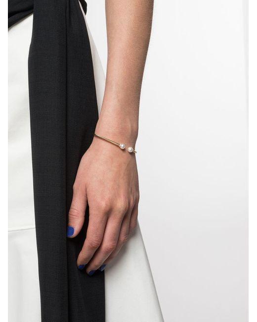 David Yurman Solari ダイヤモンド&パール カフブレスレット 18kイエローゴールド Multicolor