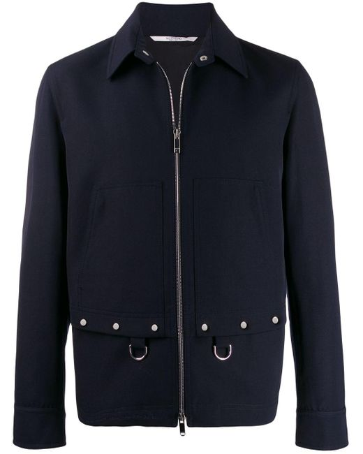 メンズ Valentino ワークジャケット Blue