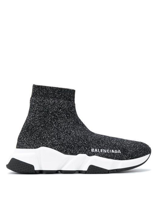 Balenciaga Speed Stretch Sneakers in het Black