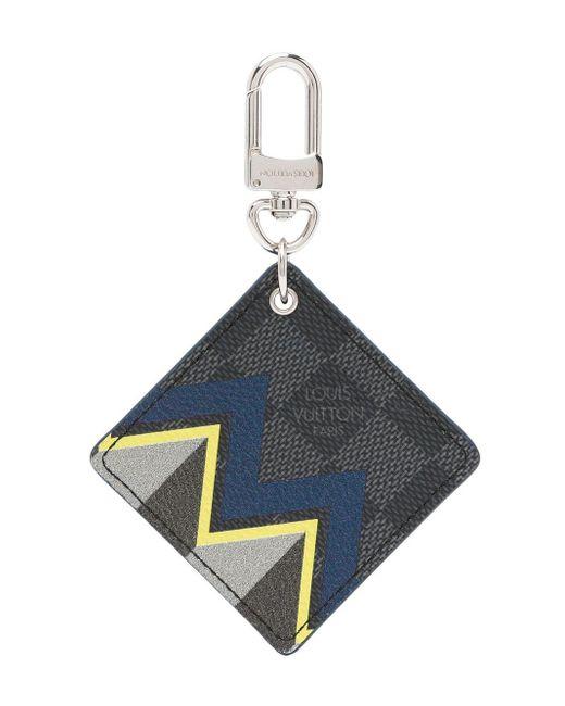 Louis Vuitton プレオウンド ダミエ グラフィット キーリング Blue