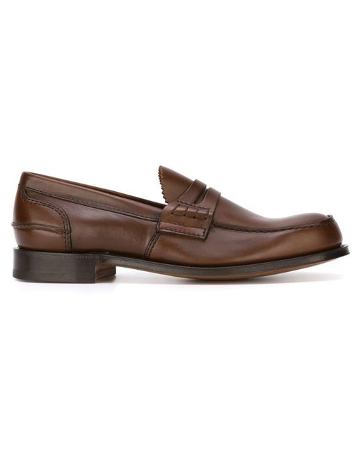 Church's - Brown 'pembrey' Loafers for Men - Lyst
