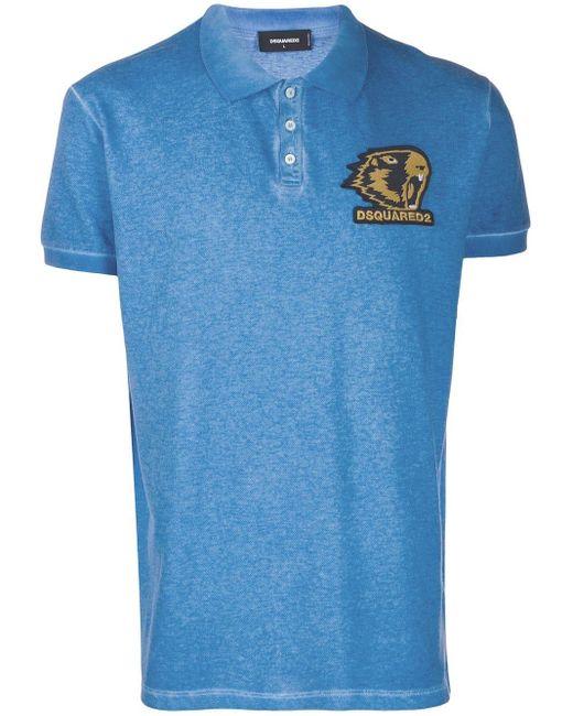 メンズ DSquared² ロゴ ポロシャツ Blue