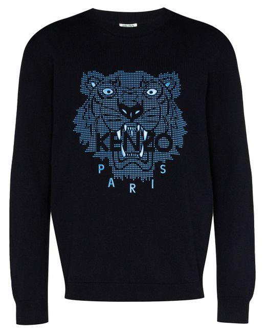 メンズ KENZO タイガー スウェットシャツ Blue
