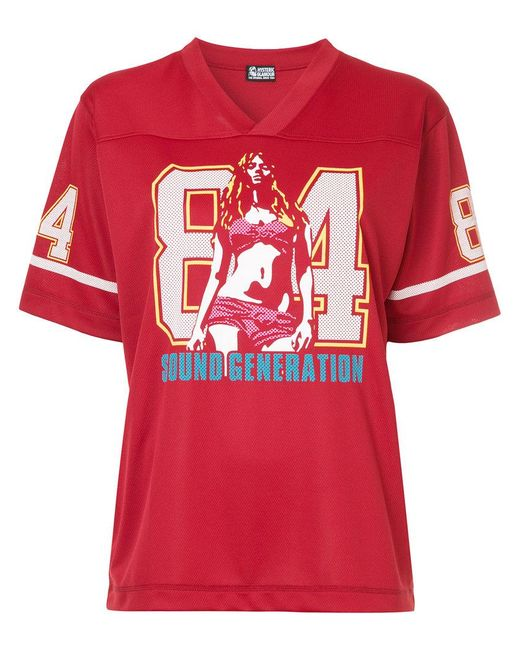 Lyst Hysteric Glamour American Football T Shirt In Red