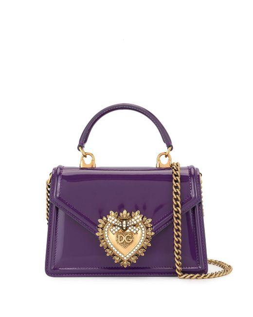 Dolce & Gabbana Devotion ショルダーバッグ Purple