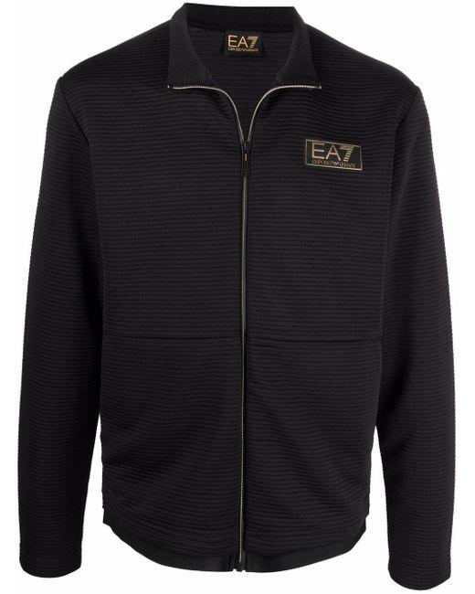 メンズ EA7 ロゴパッチ スウェットシャツ Black