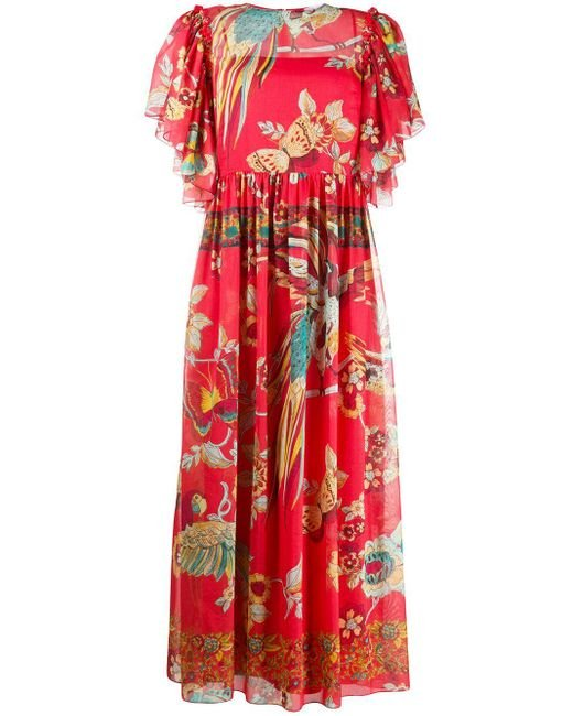RED Valentino フローラル ドレス Red