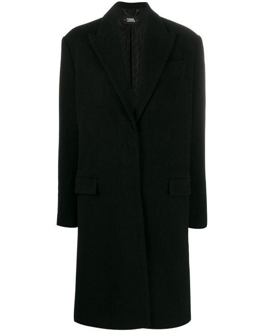 Karl Lagerfeld Karl X Carine シングルコート Black
