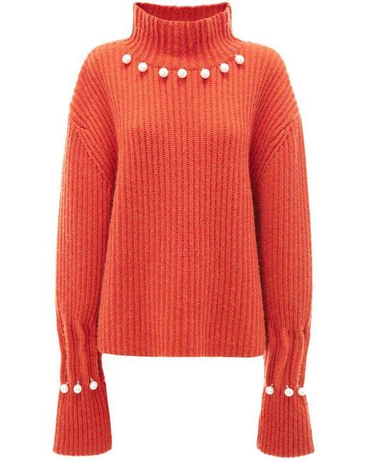 J.W. Anderson デコラティブ セーター Orange