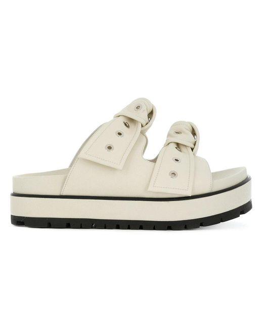 Alexander McQueen - Multicolor Eyelet Bow Sandals - Lyst