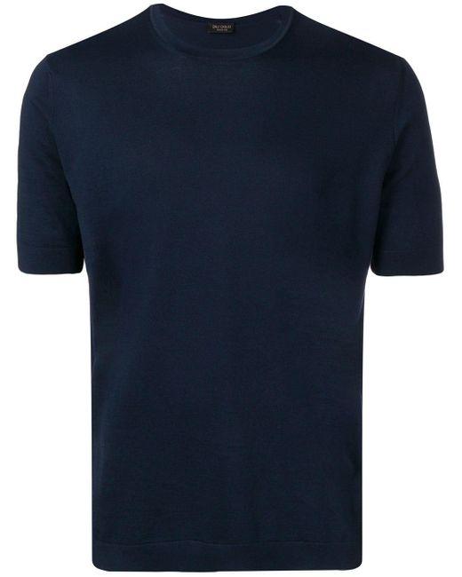 メンズ Dell'Oglio クルーネック Tシャツ Blue