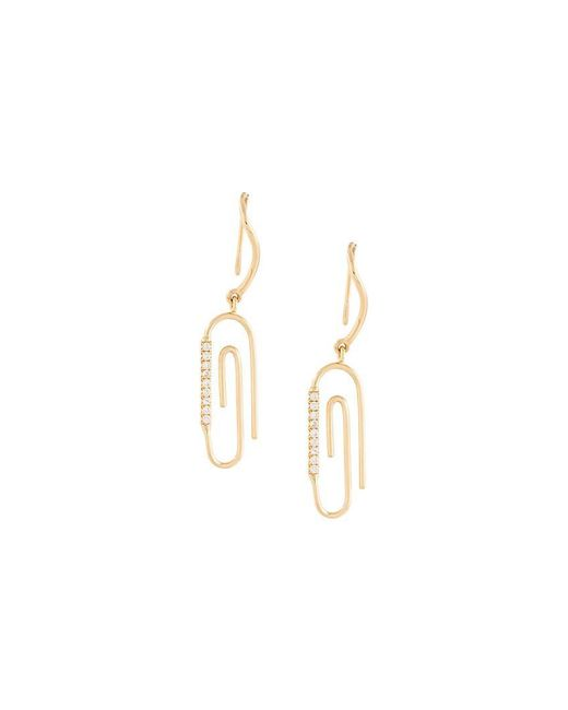 Aurelie Bidermann - Metallic 'paperclip' Diamond Earrings - Lyst
